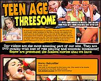 Teenage Threesome - ONE COCK IS NOT ENOUGH FOR THESE HORNY SLUTS! THEY NEED TO BE DOUBLE PENETRATED BY TWO THICK SLABS OF MEAT!